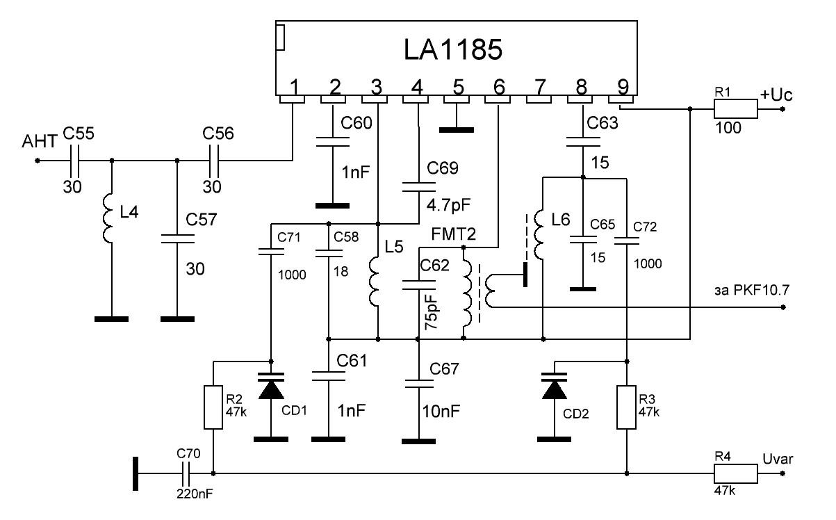 Конвертер-адаптер укв-fm схема