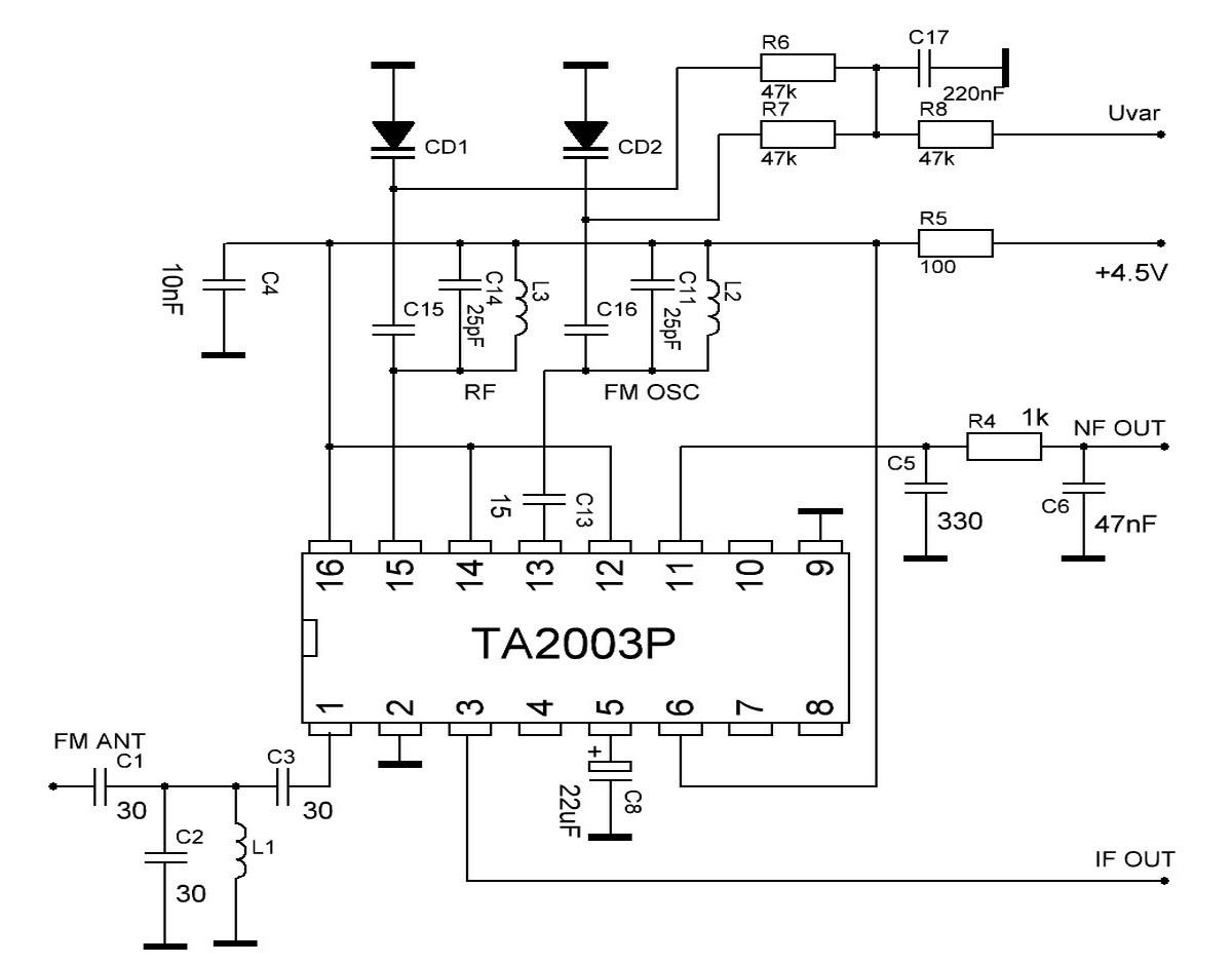 Схема приемника. Подборка простых схем приемников УКВ 59