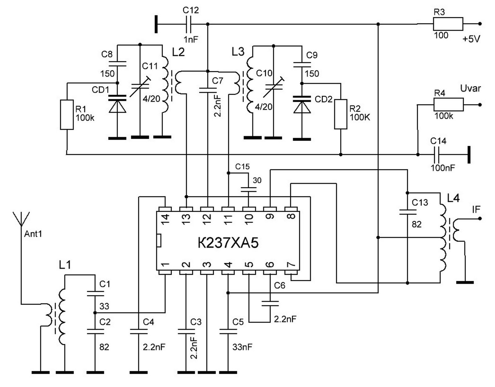 kia6040p схема приемника